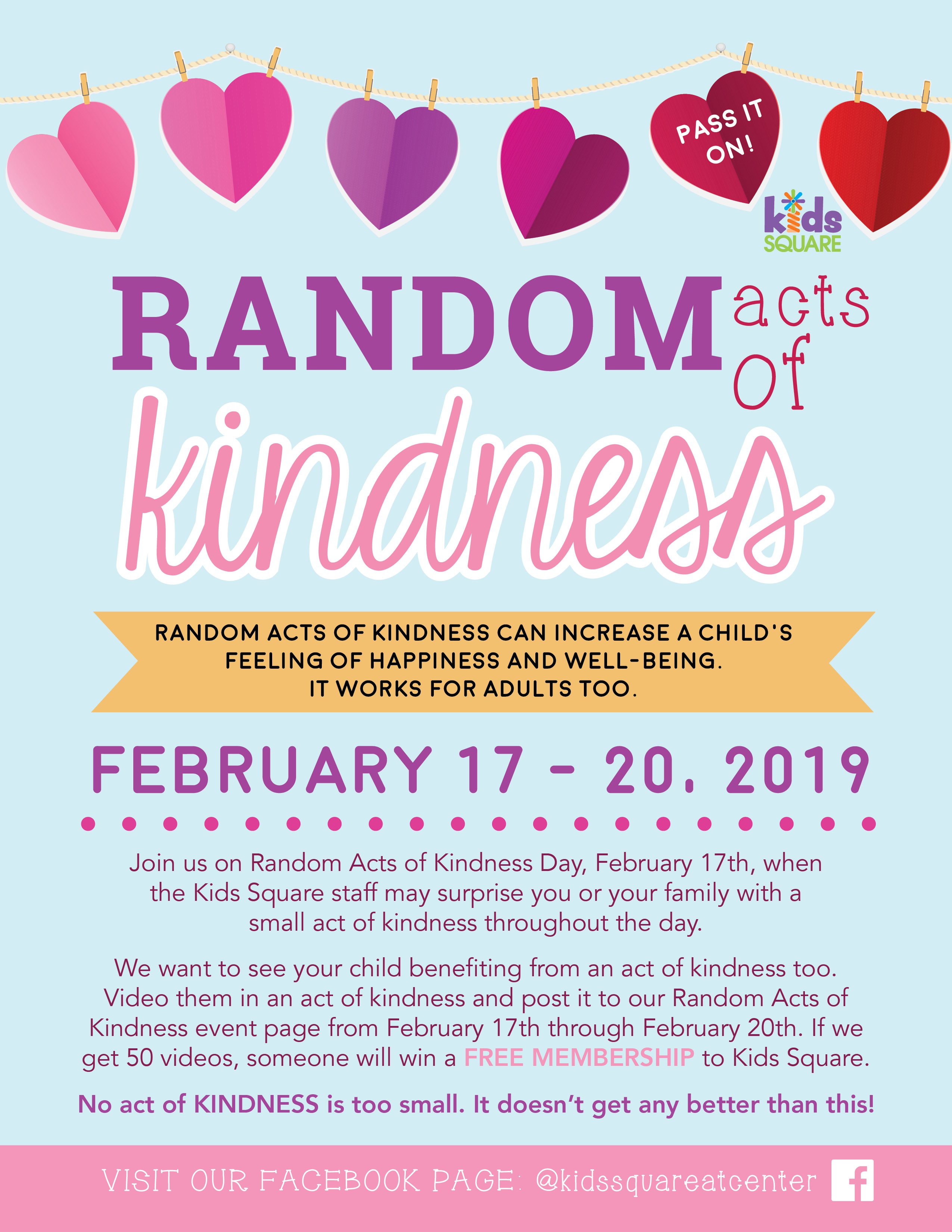Random Acts Of Kindness Day Kids Square
